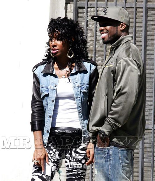 kelly 506 More Pics: 50 Cent & Kelly Rowland On Set Of Baby By Me