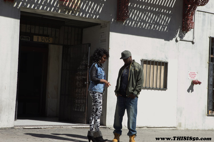 kelly50 1 50 Cent & Kelly Rowland On Set Of Baby By Me