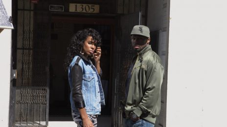 50 Cent & Kelly Rowland On Set Of 'Baby By Me'