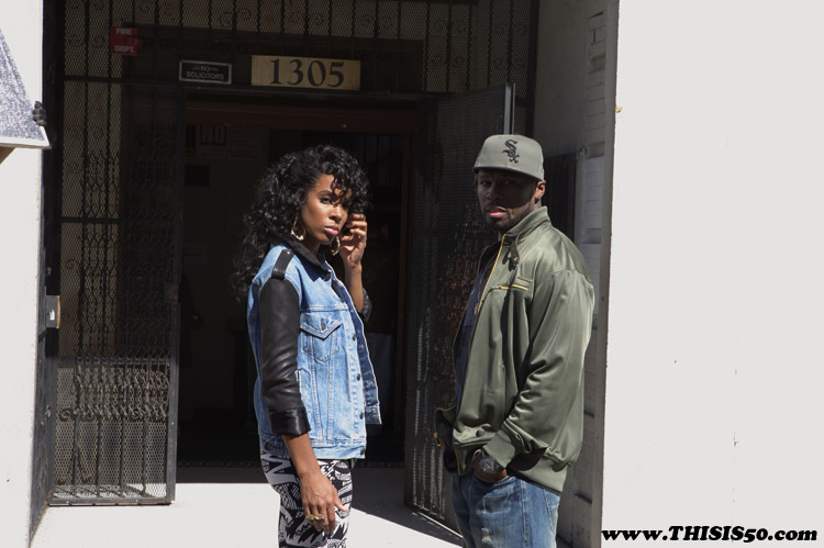 kelly50 50 Cent & Kelly Rowland On Set Of Baby By Me