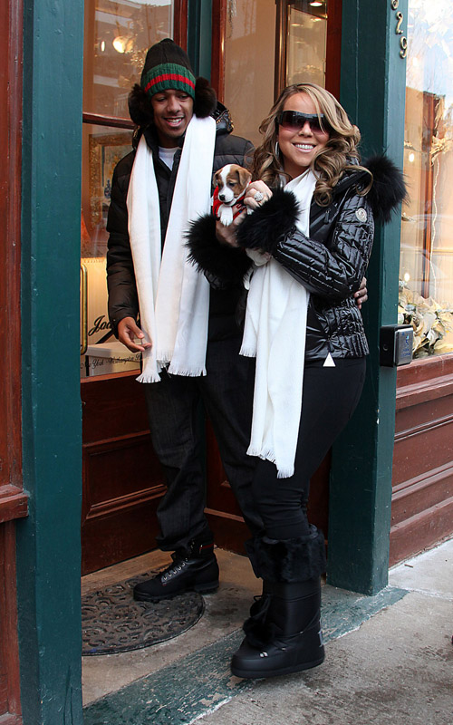 gg4 Hot Shots: Mariah Carey And Nick Cannon In Aspen