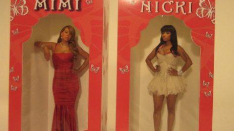Hot Shots: Mariah & Nicki Minaj On Set of 'Up Out My Face (Remix)'