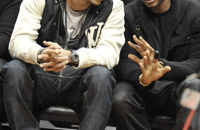 Caption This: Usher & Chris Brown At Cavaliers Game