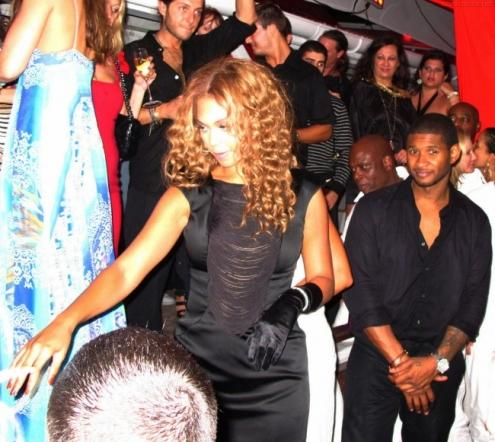 Jay-Z, Beyonce and Usher celebrated the arrival of 2010 in St. Barts last