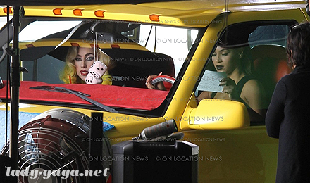 Hot Shots: Lady GaGa & Beyonce On Set Of 'Telephone' Video