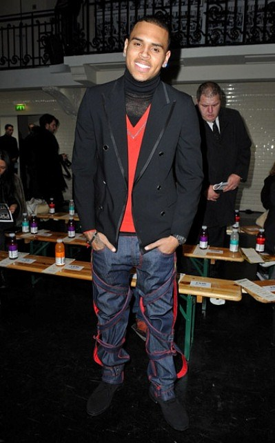 chris gaultier 1 Hot Shots: Chris Brown In Paris