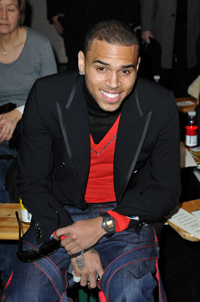 chris gaultier 2 Hot Shots: Chris Brown In Paris