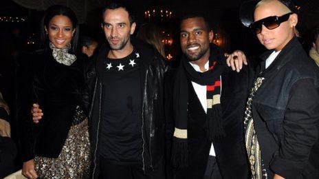 Hot Shots: Ciara, Kanye & Amber Rose At Givency Cocktail Reception