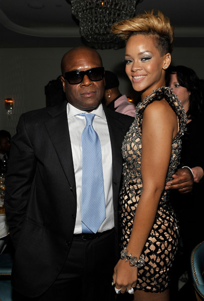 LA Reid and Rihanna Hot Shots: Celebrities At L.A. Reid Post Grammy Party