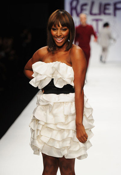 alexandra haiti1 Hot Shots: Alexandra Burke Hits Runway At Fashion For Haiti