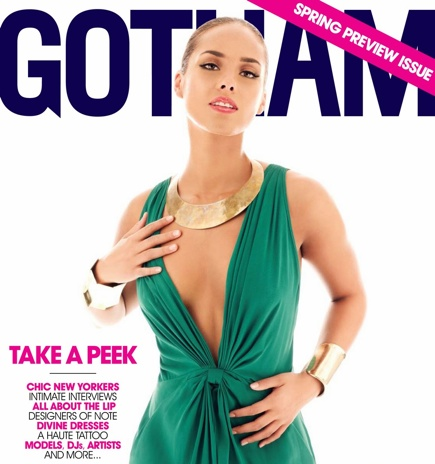 alicia keys gotham Alicia Keys Covers Gotham Magazine