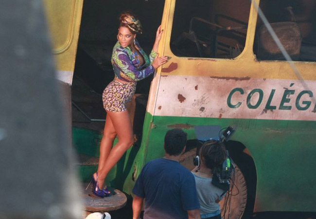 beyonce alicia 3 Hot Shots: Beyonce On The Set Of Put It In A Love Song Video