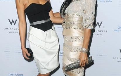 Hot Shots: Kelly Rowland & Brandy At Universal Motown Grammy Party
