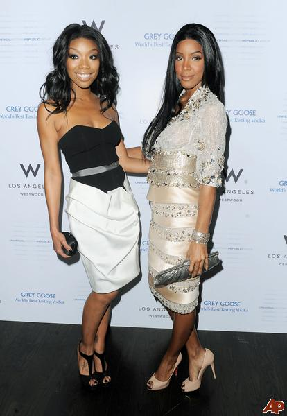grammy kelly brandy Hot Shots: Kelly Rowland & Brandy At Universal Motown Grammy Party