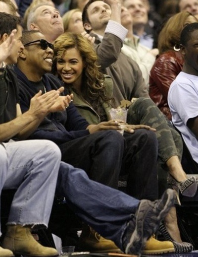 jb3 Hot Shots: Beyonce & Jay Z At Lakers Game