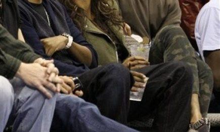Hot Shots: Beyonce & Jay-Z At Lakers Game