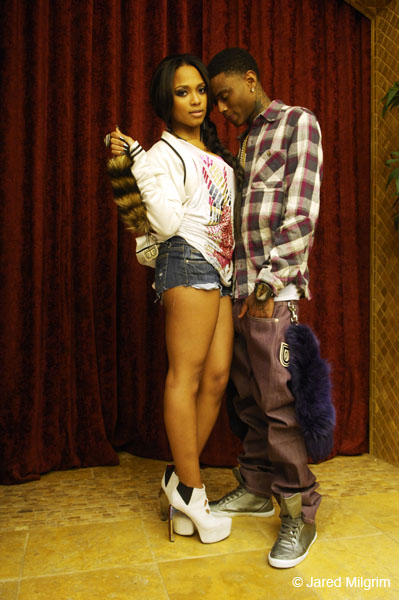 sponsor vid 61 Hot Shots: Teairra Mari & Soulja Boy Steam It Up In Sponsor Video
