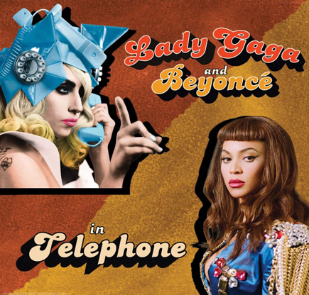 thatgrapejuice49 Hot Shot: Lady GaGa   Telephone (Ft. Beyonce) Single Cover