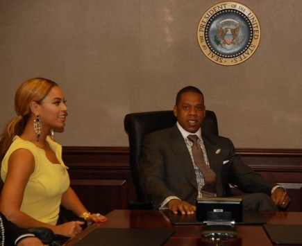 bey whitehouse Hot Shots: Jay Z, Beyonce, & Trey Songz At The White House