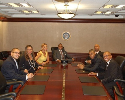 bey whithous Hot Shots: Jay Z, Beyonce, & Trey Songz At The White House