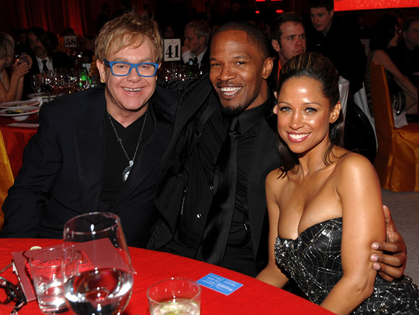 jamie foxx oscar Hot Shots: Stars At Elton John Oscar After Party