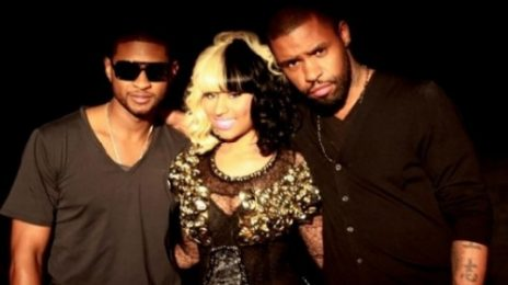 Hot Shot: Usher & Nicki Minaj On Set Of 'Lil Freak' Video