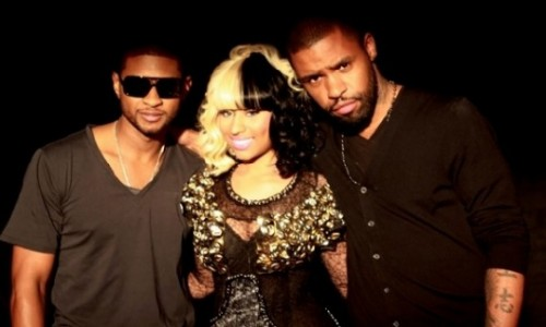 usher lil freak e1268741622536 Hot Shot: Usher & Nicki Minaj On Set Of Lil Freak Video