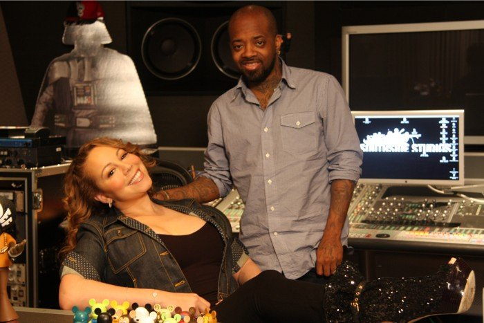 Mariah Video: Mariah Carey, Jermaine Dupri & B. Cox In The Studio