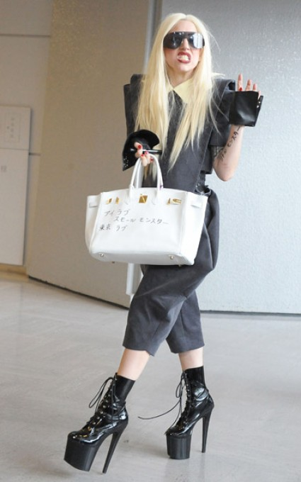 lady gaga japan e1271140188509 Hot Shots: Lady GaGa Arrives In Japan