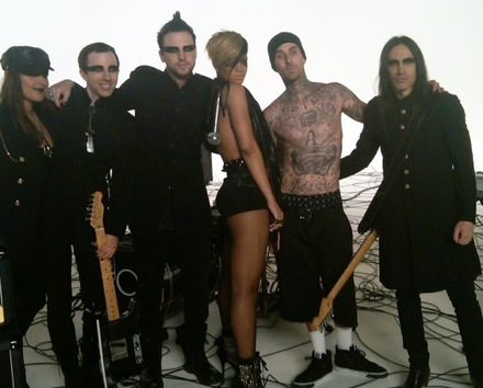 riri34 Hot Shots: Rihanna Shoots Rockstar 101 Video