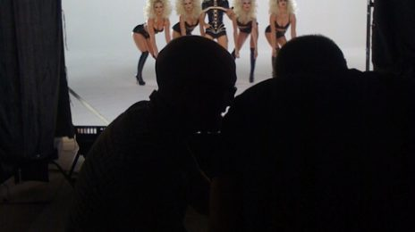 Hot Shot: Christina Aguilera On The Set Of New Video