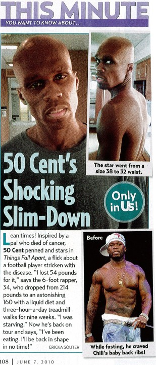 50 cent slim 50 Cent Loses 54lbs For Movie Role