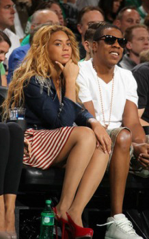 beyonce 88 Hot Shots: Beyonce & Jay Z At Boston Celtics Game