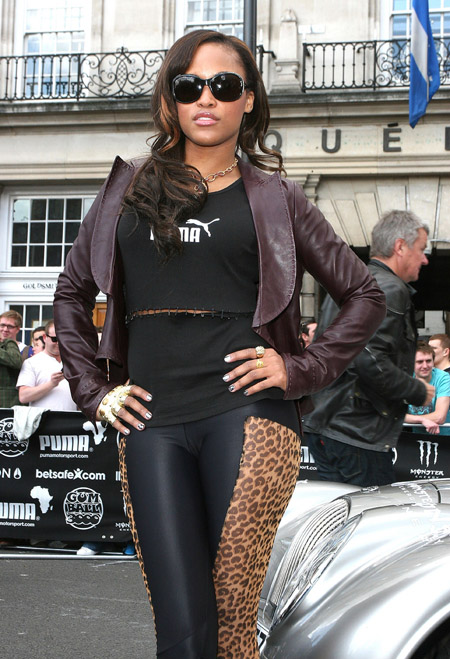 eve41 Hot Shots: Eve Rocks Leopord Print In London