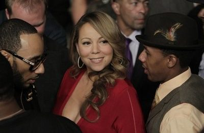 Hot Shot: Mariah Carey, Nick Cannon & Swizz Beatz In Vegas