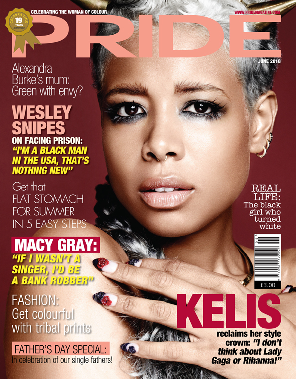 Kelis Pride Hot Shot: Kelis On The Cover Of PRIDE