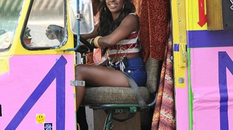 Hot Shots: Alexandra Burke On Set Of 'Start Without You' Video