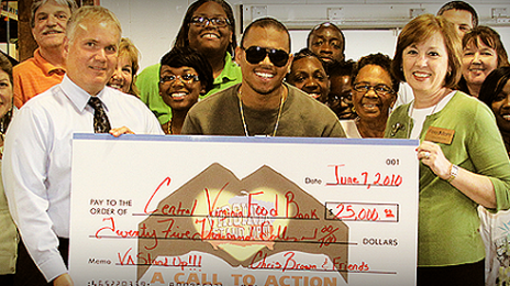 Hot Shot: Chris Brown Donates $25k To The Central Virginia Food Bank