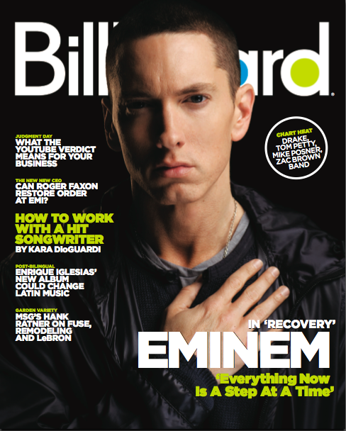 embilly Hot Shot: Eminem Covers Billboard Magazine