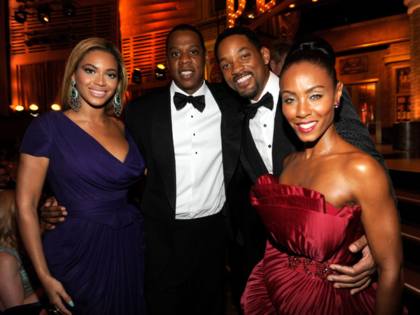 jay bey Hot Shots: Tony Awards 2010; Beyonce & Jay Z, Will Smith & Jada, Michelle Williams