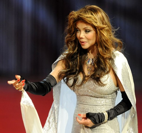 latoya jackson e1276447559825 LaToya Jackson Performs Earth Song In Russia
