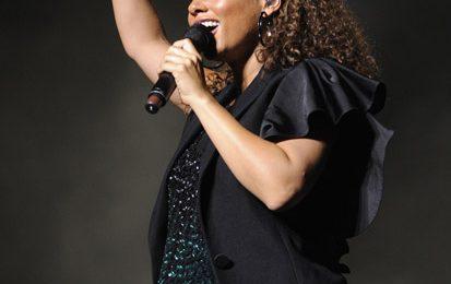 Alicia Keys Takes A Tumble