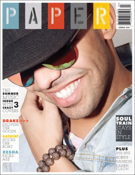 drake paper cover e1279664168421 Drake Covers Paper Magazine; Talks Haters, His Looks & More