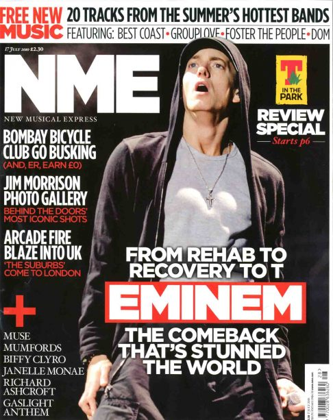 eminme Hot Shot: Eminem Covers NME