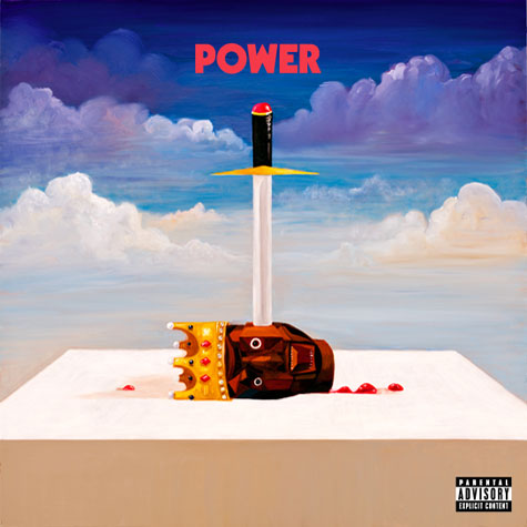 Peep the official single cover for Kanye West's new single 'Power'.