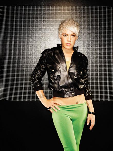 pink funhouse album promo photo 4 Quote of the Day: Pink On Christina Aguilera