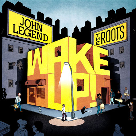 wakecover New Song: John Legend, Melanie Fiona, Common & The Roots   Wake Up
