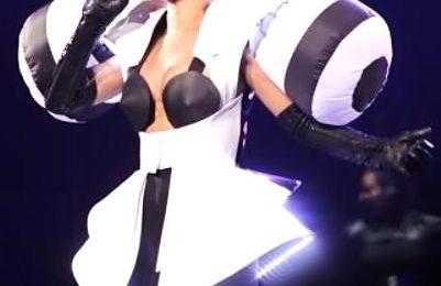 Hot Shot: Rihanna & Her Shoulder Pads Perform In Canada