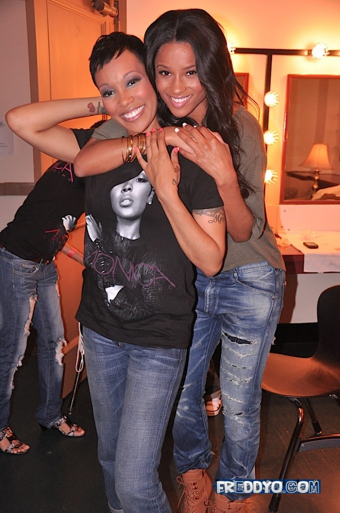 ci mo Hot Shots: Ciara & Monica Backstage In ATL