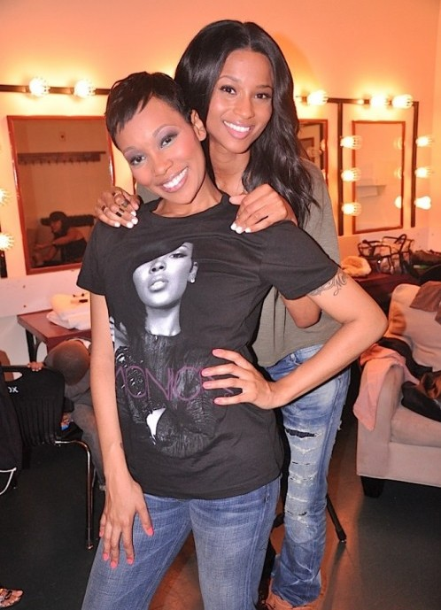 cici456 e1281958983219 Hot Shots: Ciara & Monica Backstage In ATL